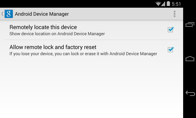 android device manager setup