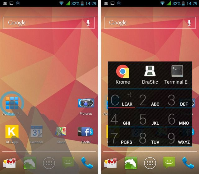 AppDialer Pro is a Lightning Fast T9 App Launcher