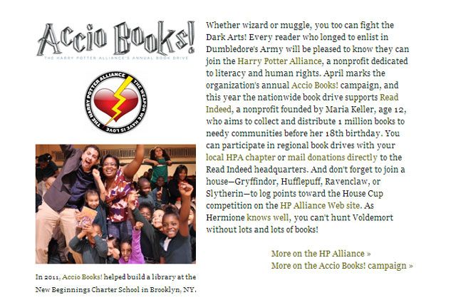 Non-profit: The Harry Potter Alliance