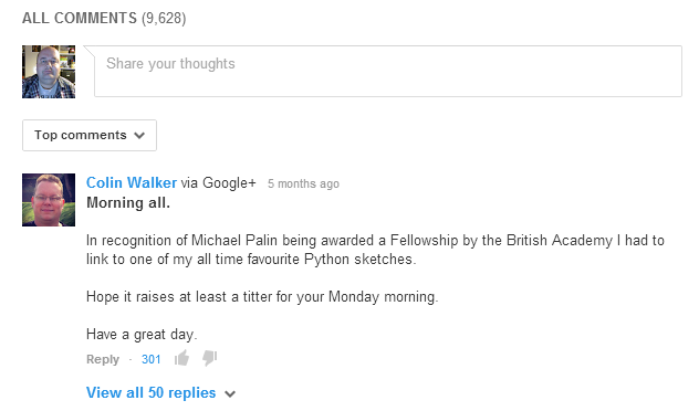 YouTube's Comments Section Now Cleaned Up, Courtesy Of Google+ google comments