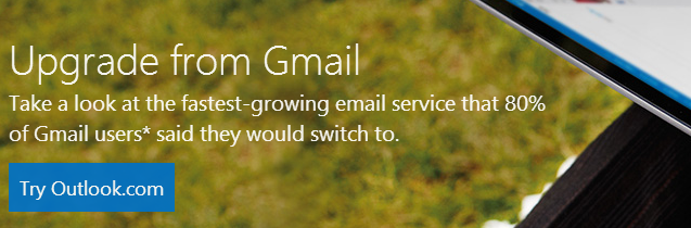 Microsoft Aims To Lure Gmail Users With A Blunt Comparison Website upgradegmail