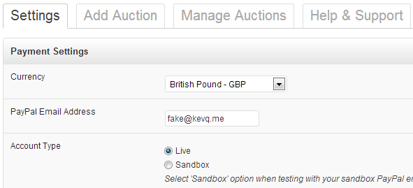wordpress-auction-settings