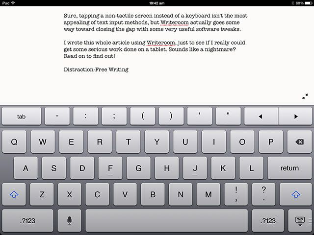 WriteRoom for iOS: A Minimal, Productive Text Editor for iPhone & iPad writing on ipad
