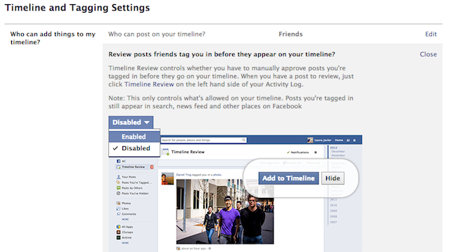 Facebook Tagging Privacy