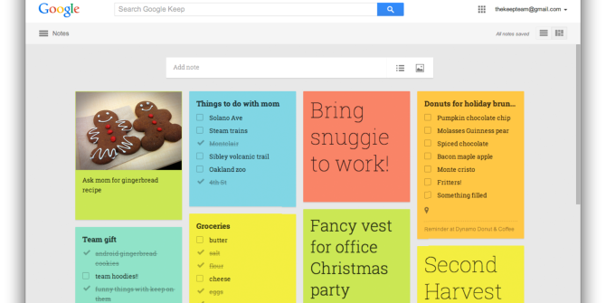 Google Launches Redesigned Keep for Web, Android Device Manager for Android