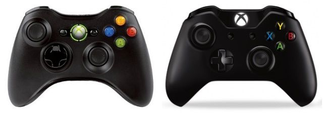 Xbox-360-Xbox-One-Controllers