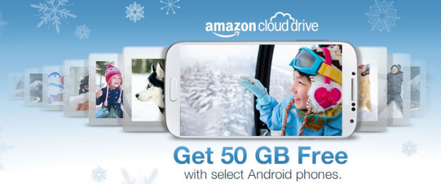 Buy A Select Android Phone & Get 50GB Of Amazon Cloud Drive Storage Free For One Year amazon freestorage