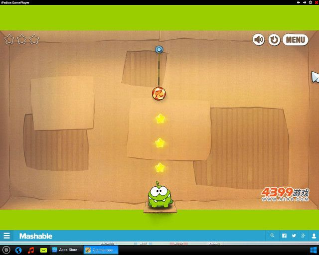 cut the rope on ipadian