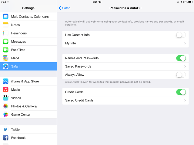 iCloud Keychain: Why You Want It & How To Use It safari autofill settings ipad