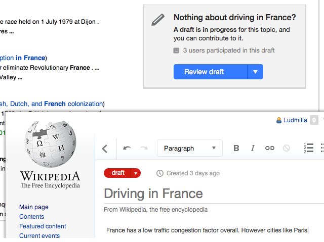Wikipedia Introduces A Draft Feature For New Articles wikipediadraft