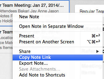 Evernote notelink
