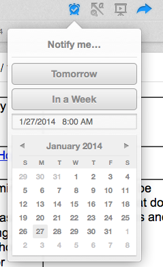 Evernote reminder