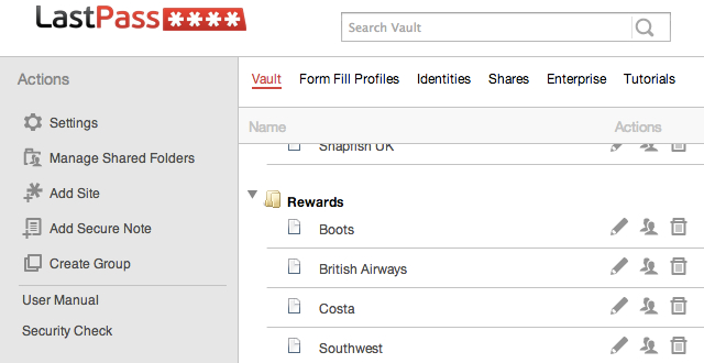 LastPass Rewards