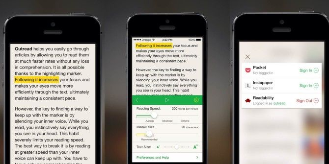 Improve Your Reading Speed With iPhone App Outread