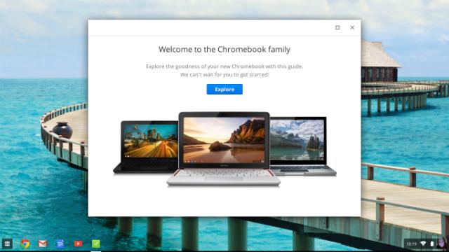 screenshot chromebook welcome
