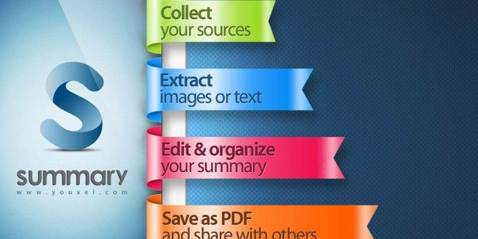 Collect, Extract & Organize Research Fast With Summary Pro for iPad