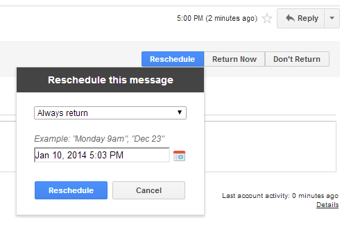 Schedule Your Messages Inside Gmail With Boomerang boomerangscheduled