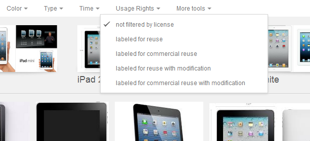 Find Legal Images On Google With A New Filter ipad cc