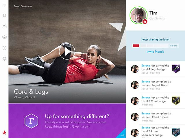 Forget The Gym, Get Fitstar Fit With Your iPad Or iPhone main screen