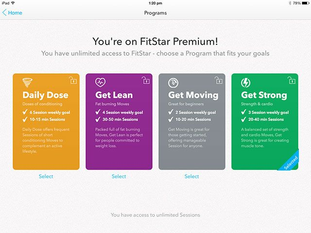 Forget The Gym, Get Fitstar Fit With Your iPad Or iPhone programs
