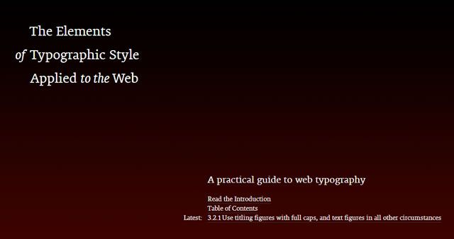 Typographic Guide - Web Typography
