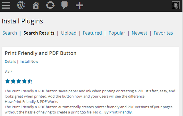 Print Friendly WordPress Plugin - Search results