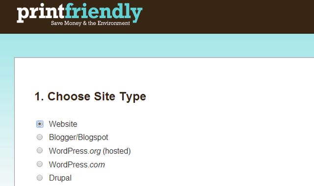 Print Friendly Website Button