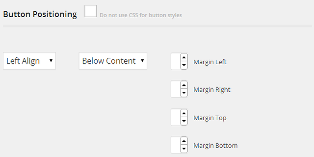 Print Friendly WordPress Plugin - Settings - Button Positioning