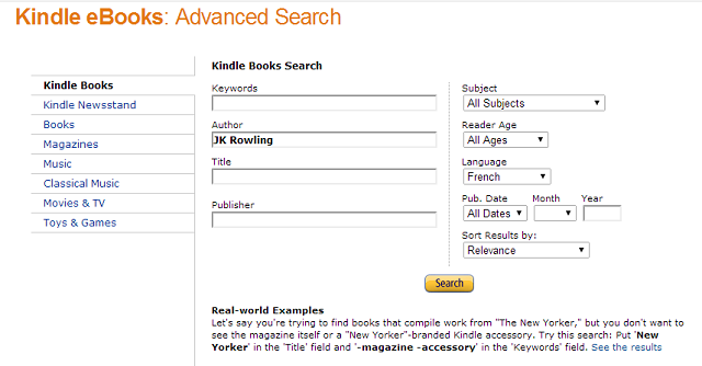Amazon-Advanced-Search