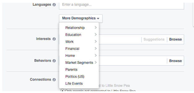 Facebook More Demographics