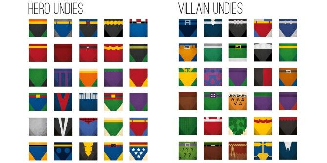 Can You Identify These Superheroes By Their Underwear?