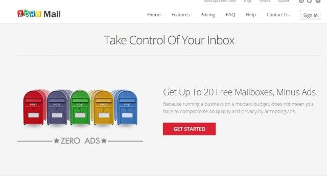 zoho-mail-sign-up-page