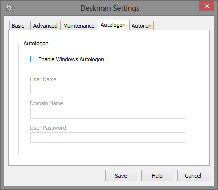 12 Autologon Tab - Deskman Settings