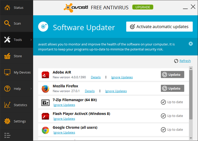 Avast - Tools - Software Updater
