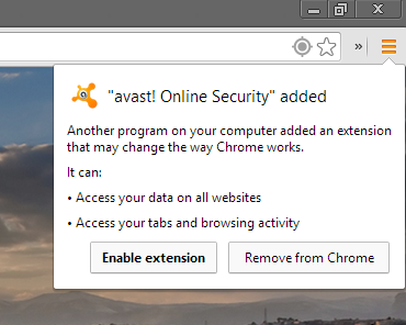 Avast - Browser Protection Plugin - Chrome