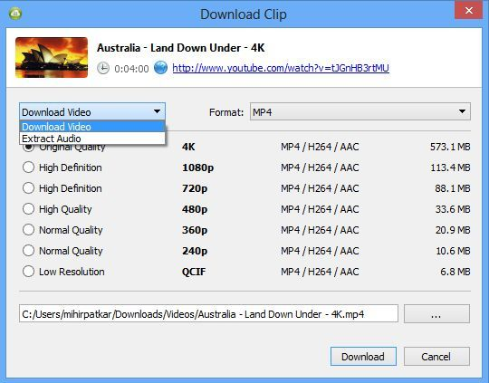 4k video downloader supported sites