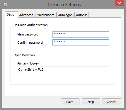 8 Basic Tab - Deskman Settings