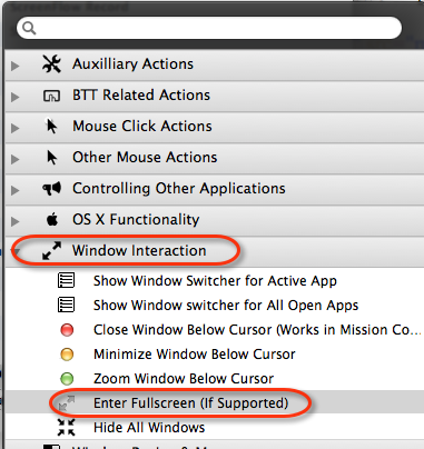 Even More Powerful BetterTouchTool Actions You Should Know About BTT fullscreen action