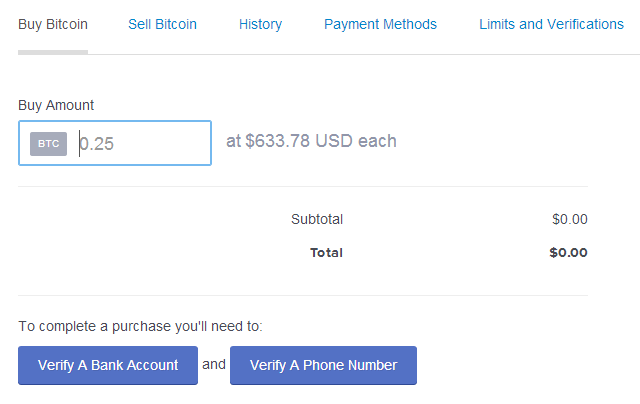 CoinBase Buy Bitcoins