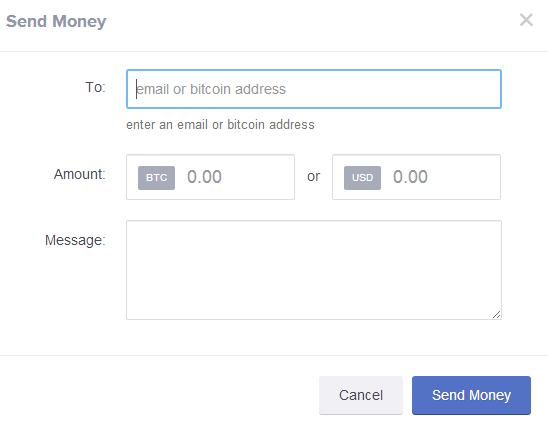 CoinBase Send Bitcoins