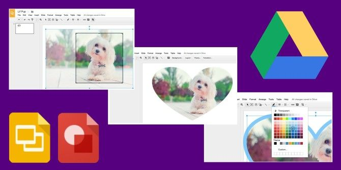 Google Presentation and Drawing Apps Add Image Cropping, Masks and Borders