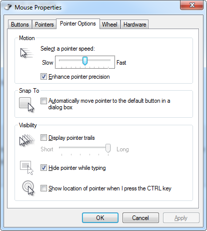 Mouse Pointer Properties