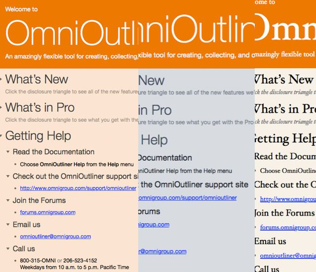 Brainstorm Manage Present Outlines With Style Using Omnioutliner 4
