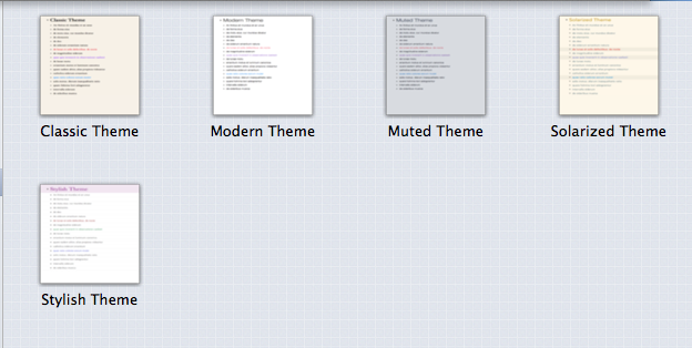 OmniOutliner themes