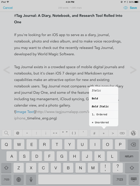 Tag Journal Captures Thoughts, Photos, Videos & Voice Recordings Tag Journal markdown syntax