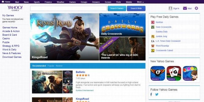 Yahoo Games Launches New Design & Network for Developers
