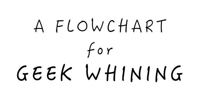 A Flowchart For Geek Whining