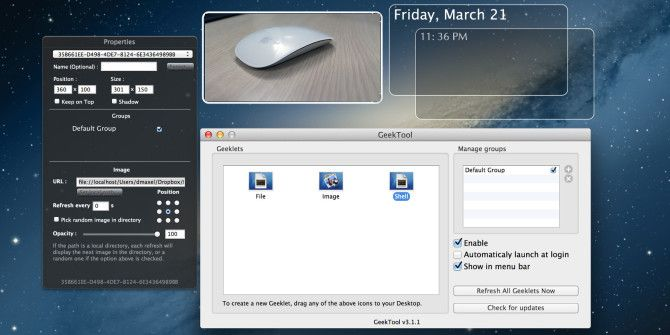 How To Use GeekTool To Truly Make Your Mac Your Own