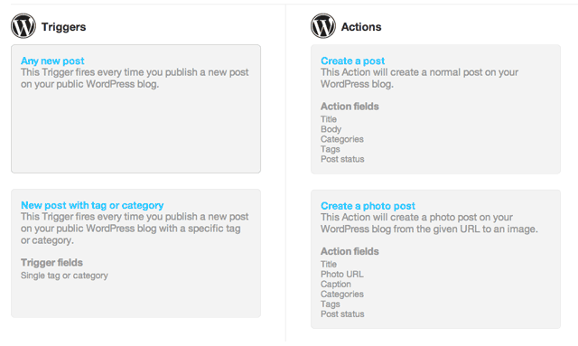 ifttt-wordpress-actions