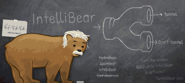 Filter Your VPN Tunnels With Tunnelbear's Intellibear intellibear1